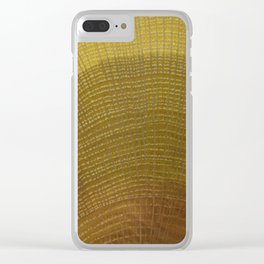 Oak Wood Grain Clear iPhone Case