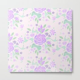 Sweet Rose Lavender Metal Print
