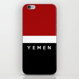 yemen flag iPhone Skin