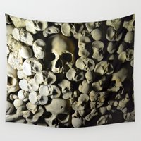 skulls Wall Tapestries featuring skulls by SINPE