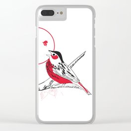 Loving red black birds Clear iPhone Case
