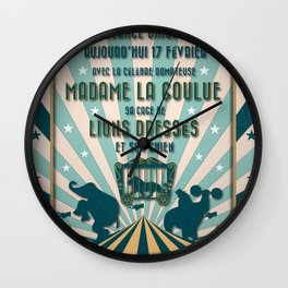 CIRQUE PRICE BLEU Wall Clock