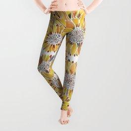Sunflower Blooms – Yellow Leggings