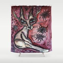 Astral Jackal  Shower Curtain