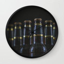 Beer Bottles On Black Wall Clock