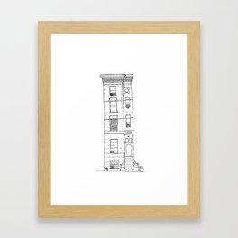 New York, Harlem house Framed Art Print