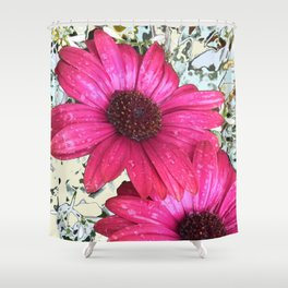 Garden Blooms - Pink  Shower Curtain