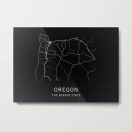 Oregon State Road Map Metal Print