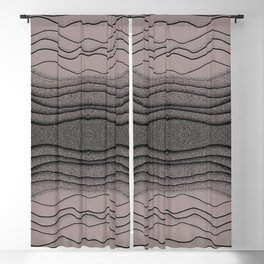 Crashing Waves - Diffuse Muted Ocean Abstract Nature Blackout Curtain