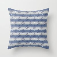 anchors Throw Pillows featuring Anchors by Vickn