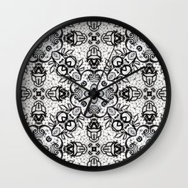 Black and White Lace Look-A-Like 622 Wall Clock