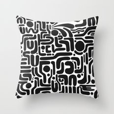 LINEWORK Throw Pillow