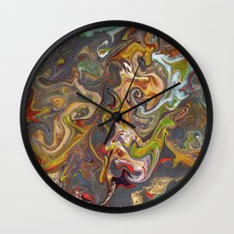 Abstract Oil Painting 26 Wall Clock