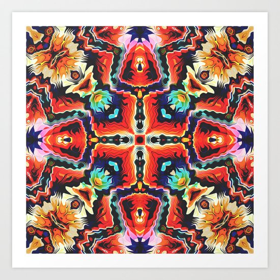 Colorful Tribal Pattern Art Print