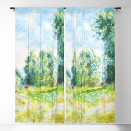 Spring in Giverny Monet Claude Blackout Curtain