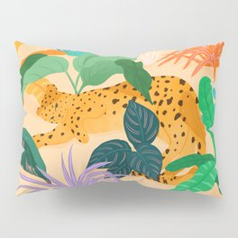 Sunbathing Amongt Plants Pillow Sham