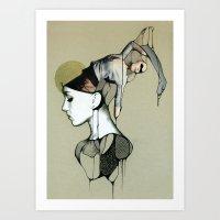 egypt Art Prints featuring Egypt by Michal Tarka