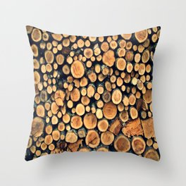 Pattern WOODS Throw Pillow