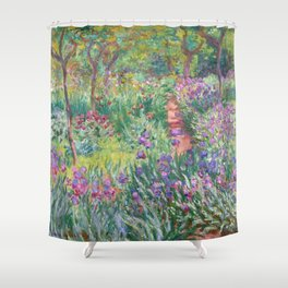 Claude Monet - The Artist's Garden in Giverny Shower Curtain