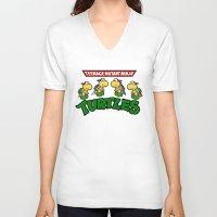 teenage mutant ninja turtles V-neck T-shirts featuring Teenage Mutant Ninja Turtles Mario by tshirtsz