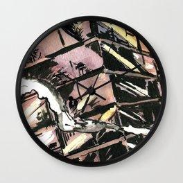 """Comic Series: """"Metallic Taste"""" - Episode 1, Page 5, Panel 3/4 Wall Clock"""