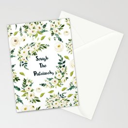 Smash The Patriarchy - A beautiful floral print Stationery Cards