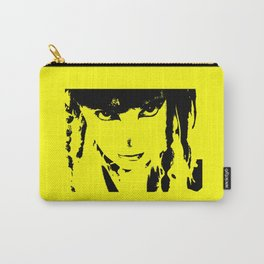 Abstract Yellow and Black Dani Carry-All Pouch
