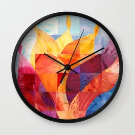 Fire (originally in quilted silk) Wall Clock