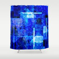 vagina Shower Curtains featuring Sapphire Nebulæ by Aaron Carberry