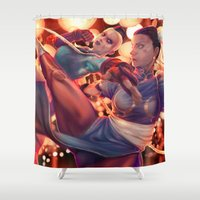 fight Shower Curtains featuring FIGHT! by MATT DEMINO