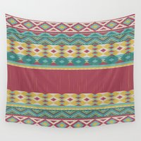 peru Wall Tapestries featuring Aztec Art by General Design Studio