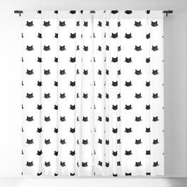 Black Cats Pattern Blackout Curtain