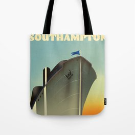Southampton cruise liner vintage style travel poster Tote Bag