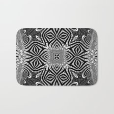 Black & White Tribal Symmetry Bath Mat