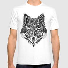 fox face Mens Fitted Tee MEDIUM White