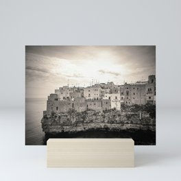 Polignano a Mare typical houses on the bay beach in Salento Italy Mini Art Print