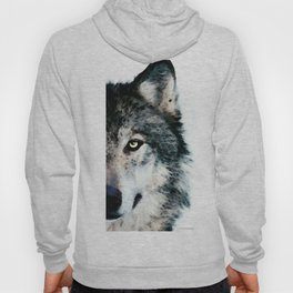 Wolf Art - Timber by Sharon Cummings Hoody