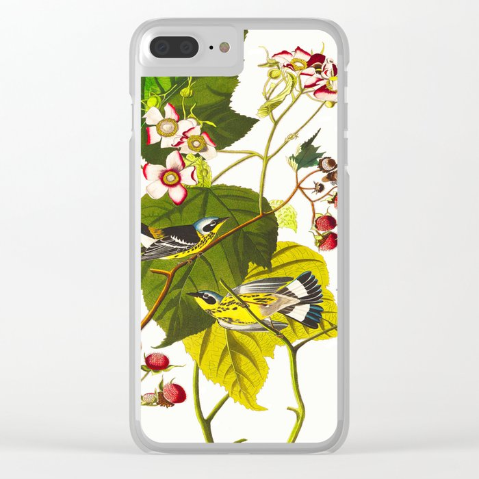 Black and Yellow Warbler Bird Clear iPhone Case