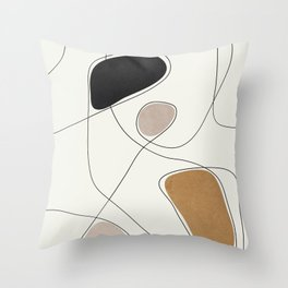 Thin Flow I Throw Pillow