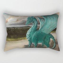 The Majestic Dragon Rectangular Pillow