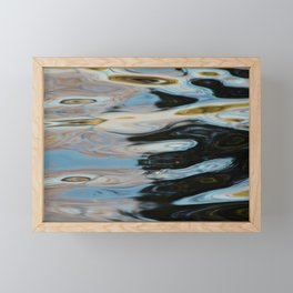 Abstract Water Surface Framed Mini Art Print