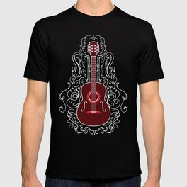 Acoustic Guitar With A Scroll Design T-shirt