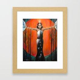 Strength - Tarot Card Art Framed Art Print
