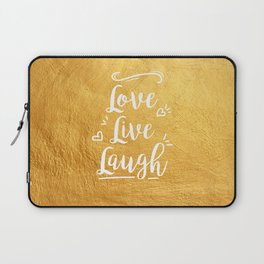 Love Live Laugh Laptop Sleeve
