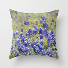 Texas Bluebonnets 10 Throw Pillow