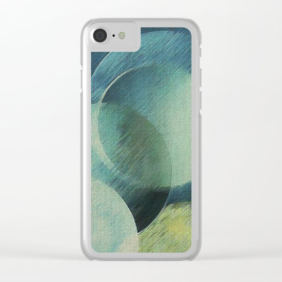 The Phases of the Blue Moons Clear iPhone Case