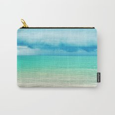 Blue Turquoise Tropical Sandy Beach Carry-All Pouch