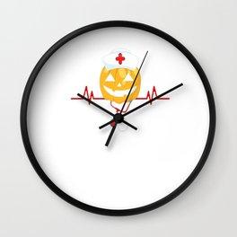 Pumpkin Nurse Halloween Gift Wall Clock