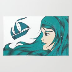 Poseidon Goddess of the Sea Rug