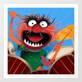 Animal Muppets' Drummer Art Print